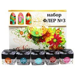 Kit Nail Art FLOWER n°3